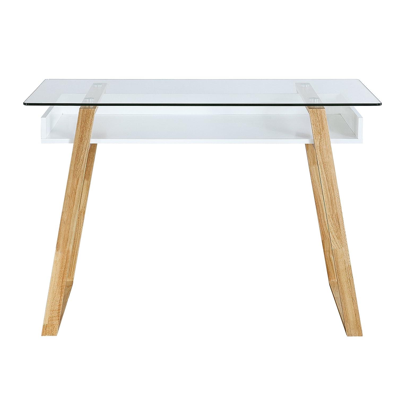Amazon Poly and Bark Segovia Glass Top Desk Kitchen & Dining