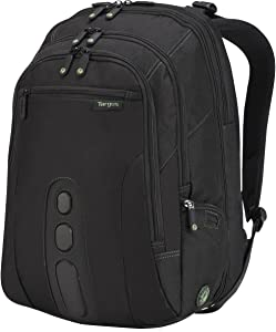 Targus Spruce EcoSmart Travel and TSA Checkpoint-Friendly Backpack, Business Professional/College Student Commuter, Removable Padded Slipcase for 17-Inch Laptop, Black (TBB019US)