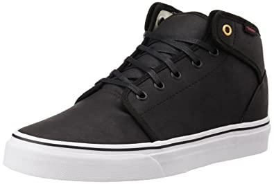 958f8ab02b96 Vans Unisex 106 Mid Black Leather Sneakers - 8 UK  Buy Online at Low Prices  in India - Amazon.in