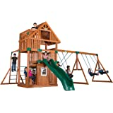 Backyard Discovery Wanderer All Cedar Wood Playset Swing Set