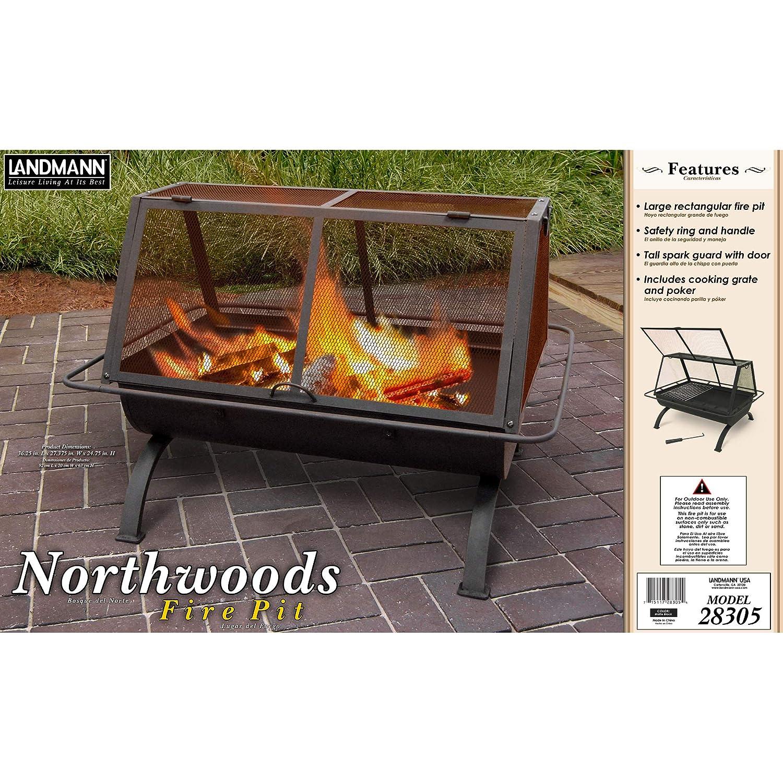 Amazon Com Landmann Usa 28305 Northwoods Outdoor Fireplace
