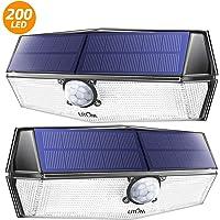 Luz Solar Exterior 200 Led, Foco Solar con Sensor de Movimiento Iluminación, 270° Gran Angular, IPX7 Impermeable, Más…