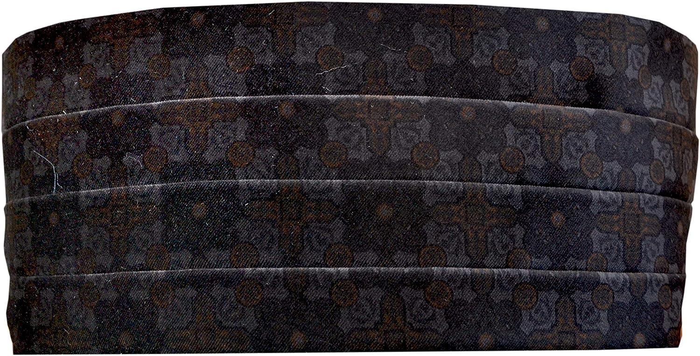 Remo Sartori Made in Italy Mens Black Leather Cummerbund Tuxedo Belt