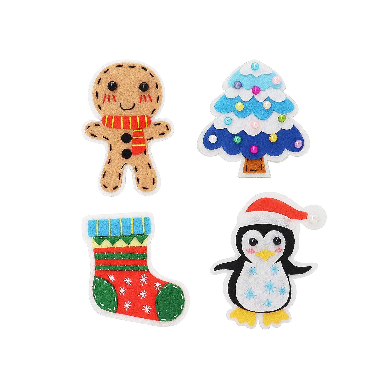 QKIYI Sewing Kits DIY Felt Applique Ornament Kits Door Hanging Kit 9.8ft /& 7.8ft