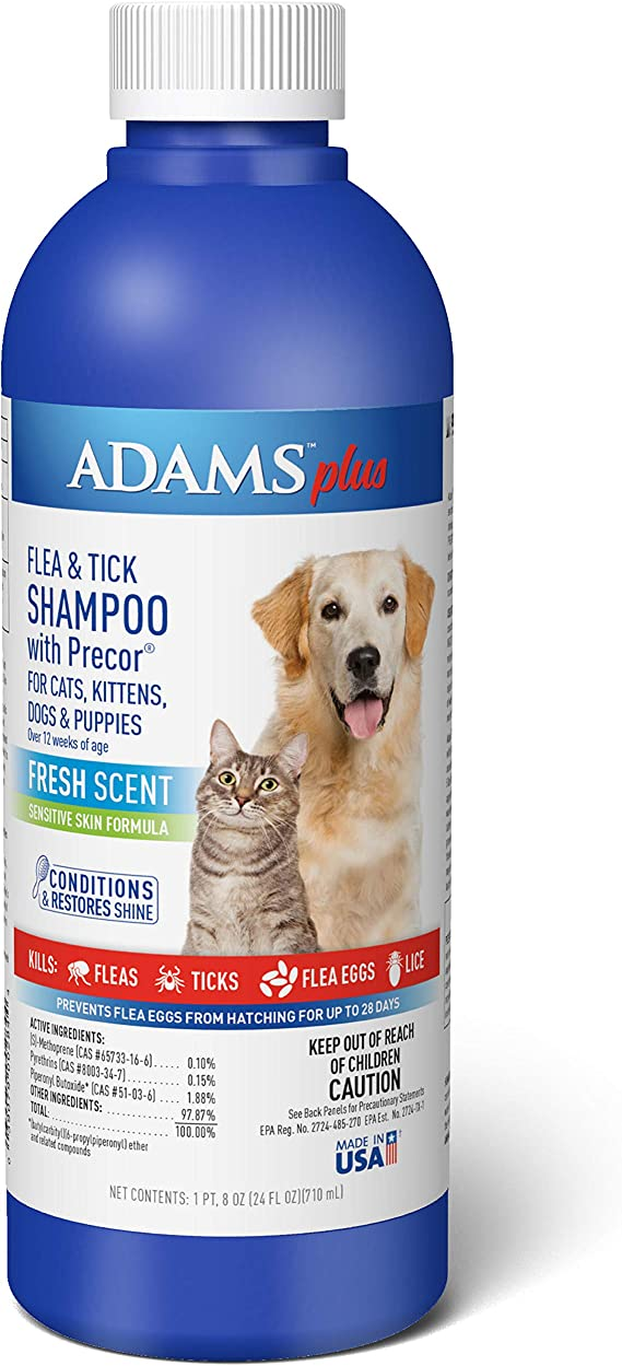Adams Plus Flea and Tick Shampoo with Precor, Flea Treatment