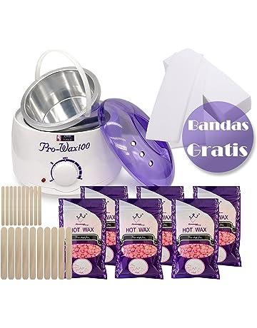 Crisnails® Kit de Depilación Profesional, Calentador de Cera Eléctrico Profesional de 500ml, 6