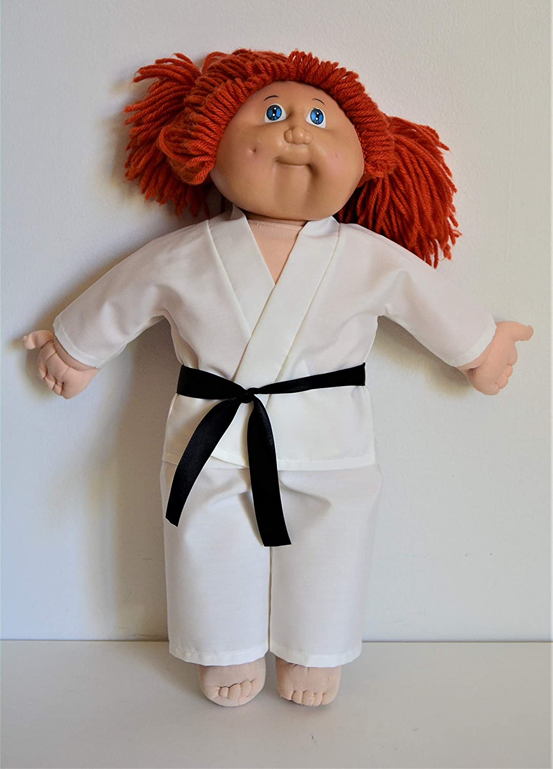 Handmade Doll Clothes White Karate Uniform Gi Judo TKD fit Cabbage Patch Kids 16 Doll