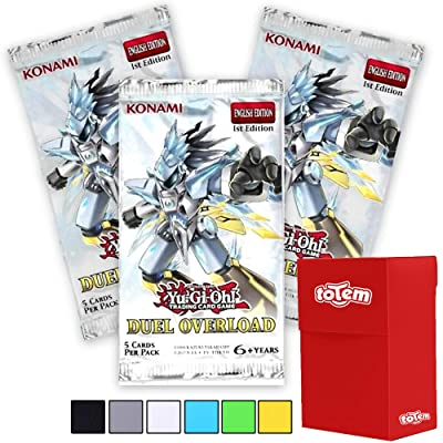Totem World 3 YuGiOh Duel Overload 1st Edition Booster Packs with Totem Deck Box - Features 15 Ultra Rare Yu-Gi-Oh Cards: Toys & Games