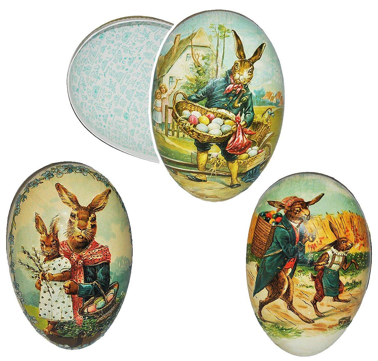 Unbekannt 10 Stück _ Füll - Pappeier 15 cm - - -  Landidylle Hasen  - Osterei   Ei zum befüllen - Deko Pappe Papp Pappeier Dekoei Pappostereier Füllen - Os.. B01BKVIQ7G Ostern 57aee1