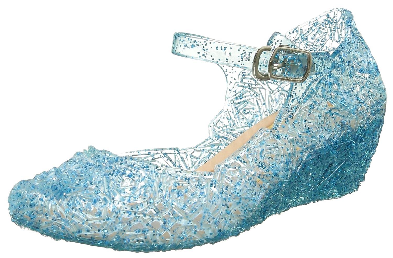 URAQT Prinzessin ELSA Cinderella Absatz-Schuhe Blau Kinder Glanz ...