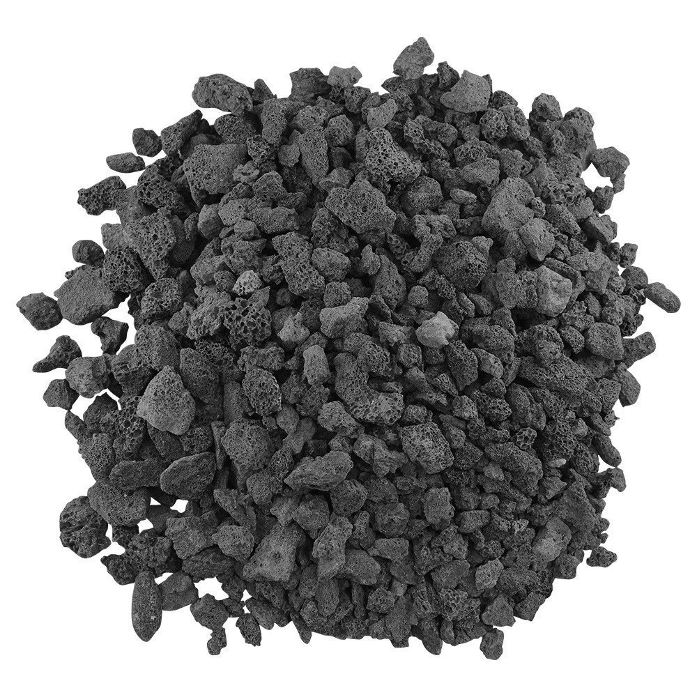 American Fireglass LAVA-S-10 American Fire Glass Small Sized Black Lava Rock – Porous, All-Natural, 1/4 Inch to 1/2 Inch Thick x 10 Pounds,