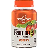 One A Day Women's Natural Fruit Bites Multivitamin with Immune Health Support*, 60 Count (1 month supply), Gluten Free Vitami