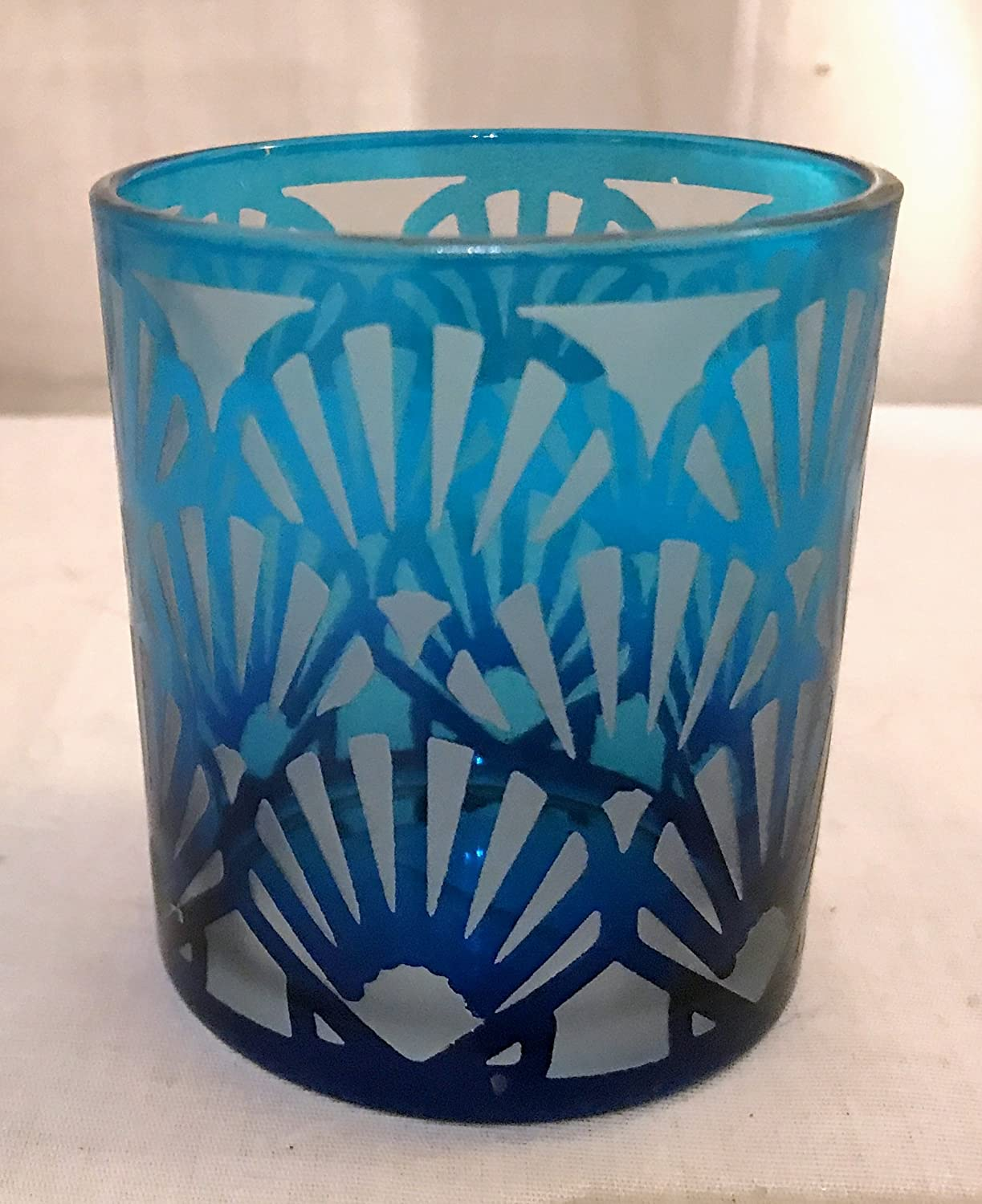 Yankee Candle New Blue Frosted Glass Votive Holder (Bright Blue Shell)