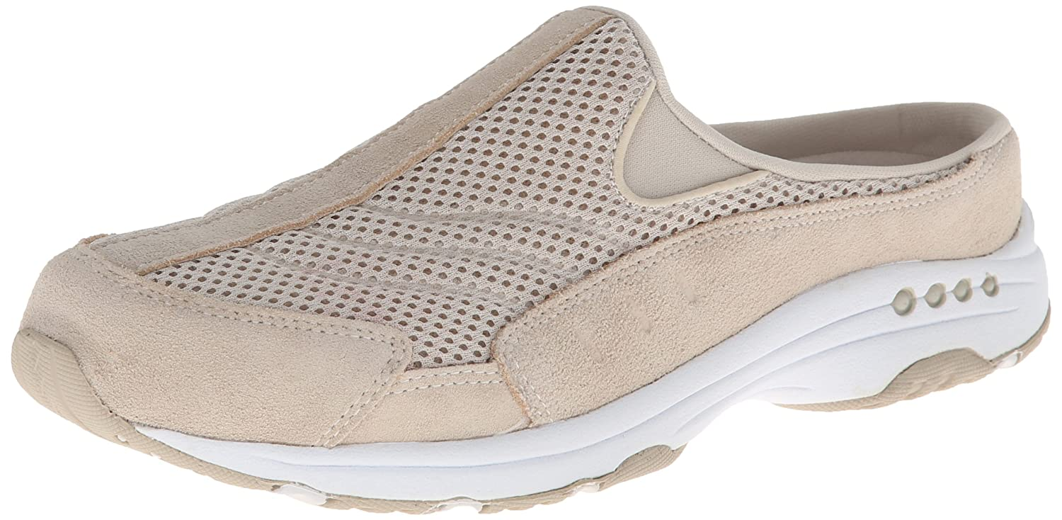 Light Natural Suede White Easy Spirit Women's Traveltime Mule