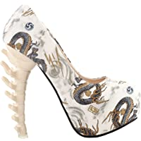 Show Story Cute Sexy Romantic Fashion Gift for Her Pumps,LF80610HB40,9AU,Beige Dragon