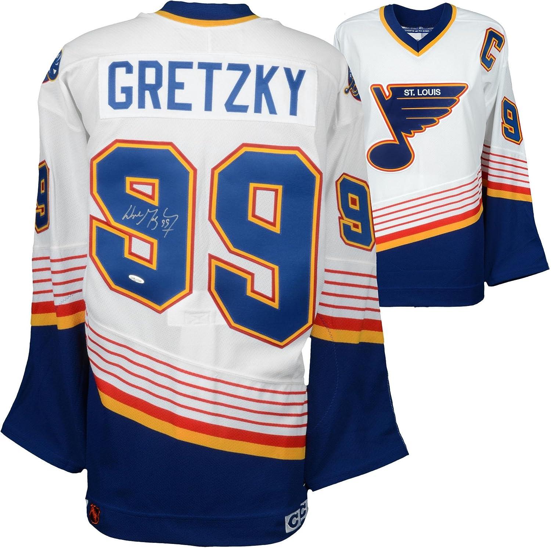 online store 0b1b9 1ed2e Wayne Gretzky St. Louis Blues Autographed White CCM Jersey ...