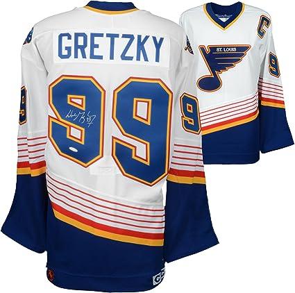 online store c7e8a d6a60 Wayne Gretzky St. Louis Blues Autographed White CCM Jersey ...