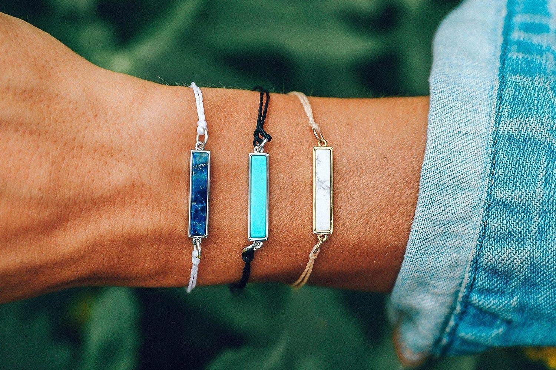 Adjustable Threaded Pura Vida Silver or Gold ID Bracelet Waterproof Fashion Jewelry for Girls//Women Artisan Handmade