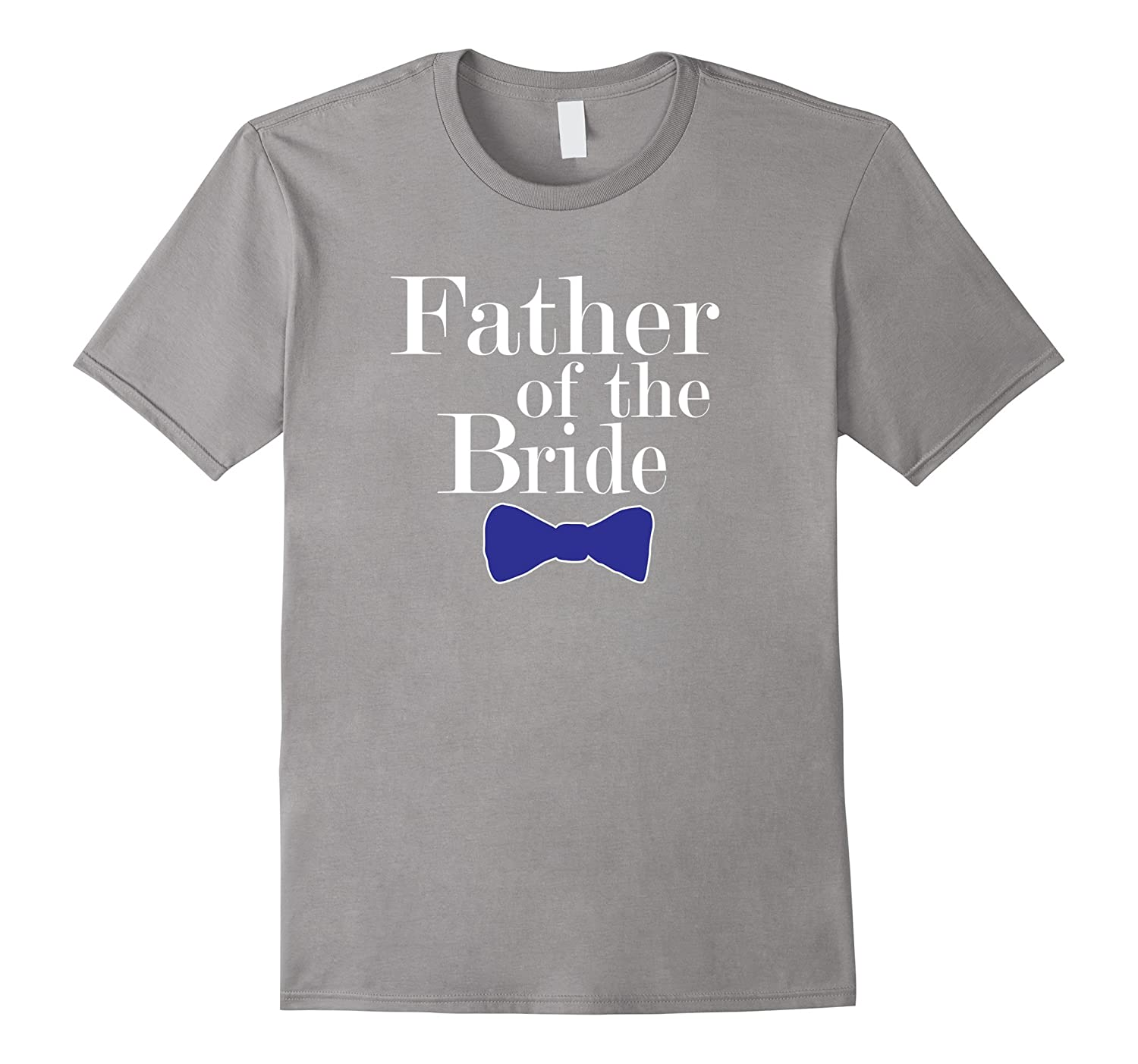 Father of the Bride Blue Bowtie T Shirts-Vaci