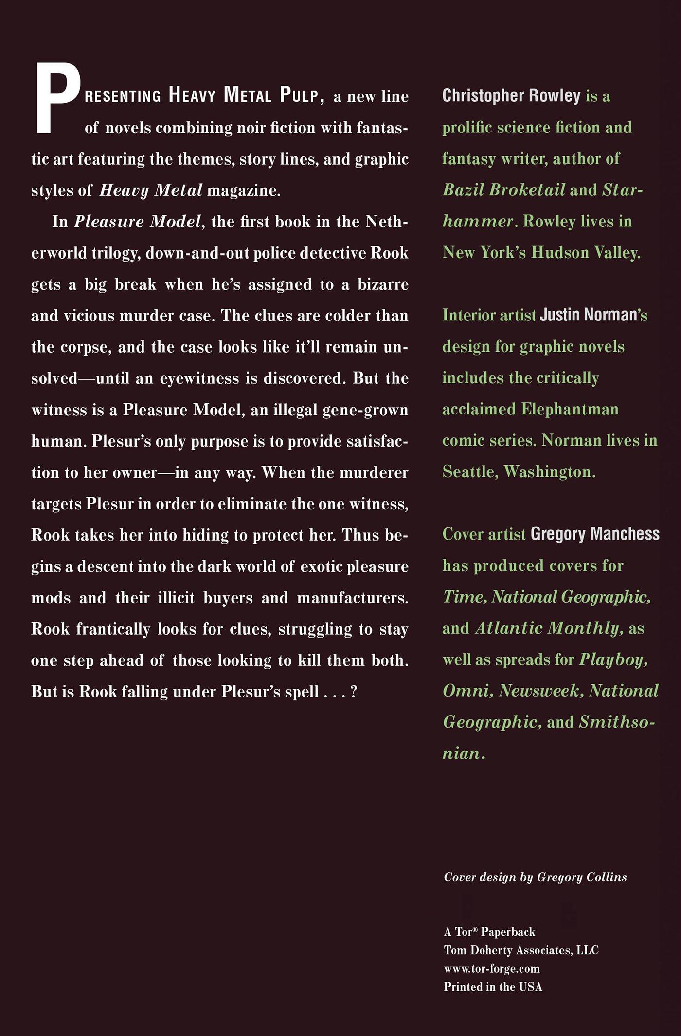 Heavy Metal Pulp: Pleasure Model:herworld Book One: Christopher Rowley:  9780765323880: Amazon: Books