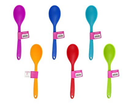 Genial Core Kitchen Heavy Duty Silicone Spoon, Colors Vary, 2 Spoons