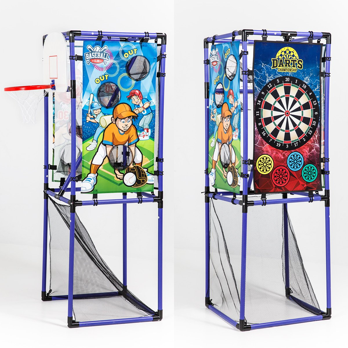 Sport Squad 5-in-1 Multi-Sport Kid's Game Set – Features Baseball, Basketball, Football, Soccer, Darts – Great for Indoor and Outdoor Play by Sport Squad (Image #3)