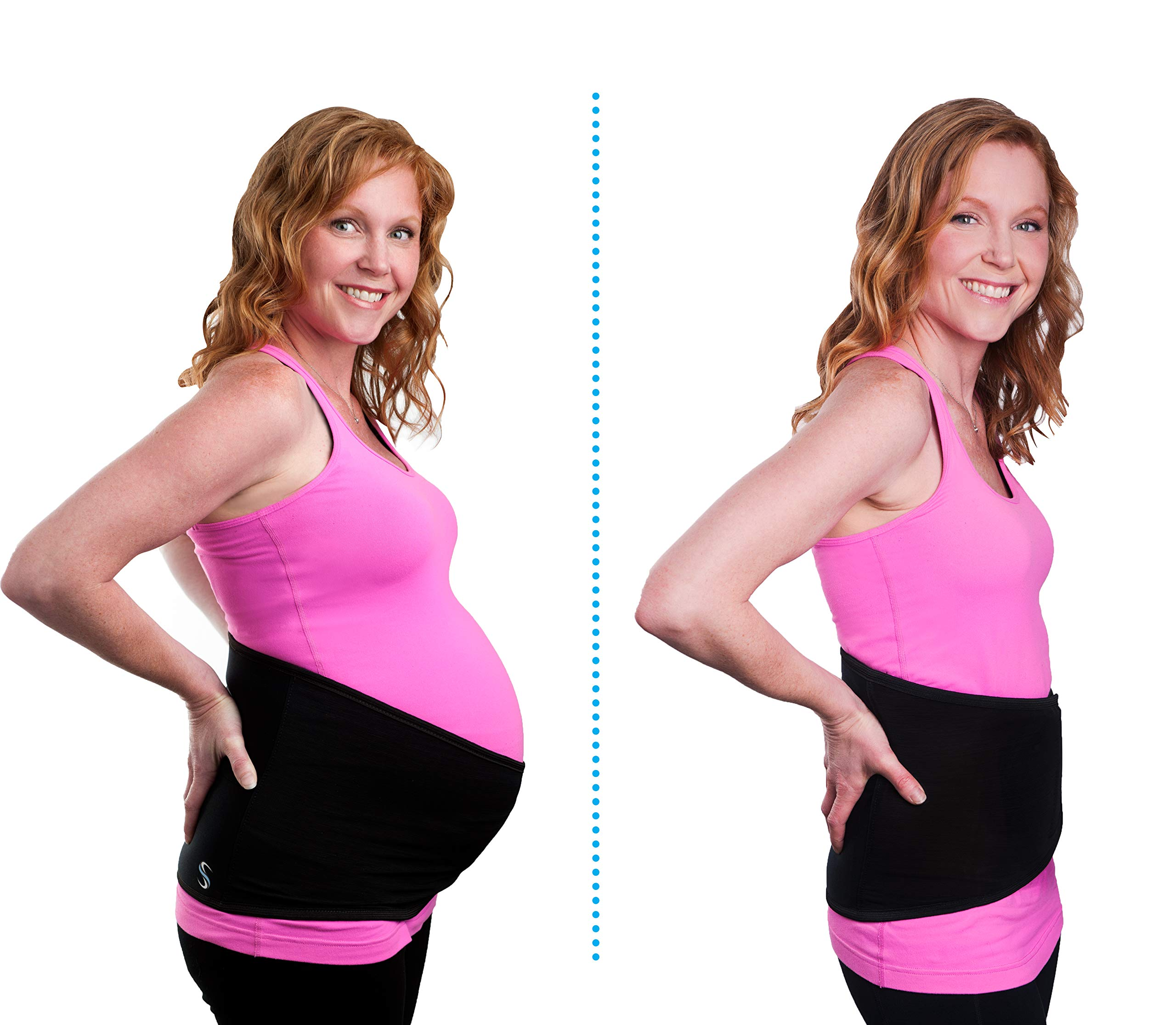 Spand-Ice Maternity + Postpartum 2 in 1 Wrap with Ice and Heat Therapy - Belly Band for Pregnancy Back Pain, Support + Pregnancy Recovery. Includes 2 Cold/Hot Packs + 9'' Extender Strap