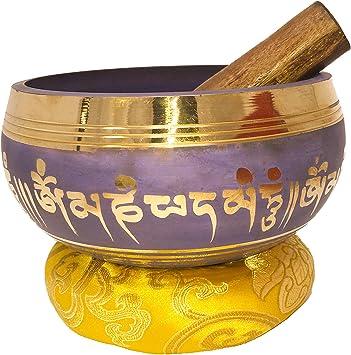 Amazon.com: Grande tazón tibetano set-buddhist símbolos ...