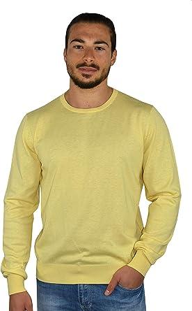 1stAmerican suéter Cuello Redondo algodón y Seda para Hombre ...