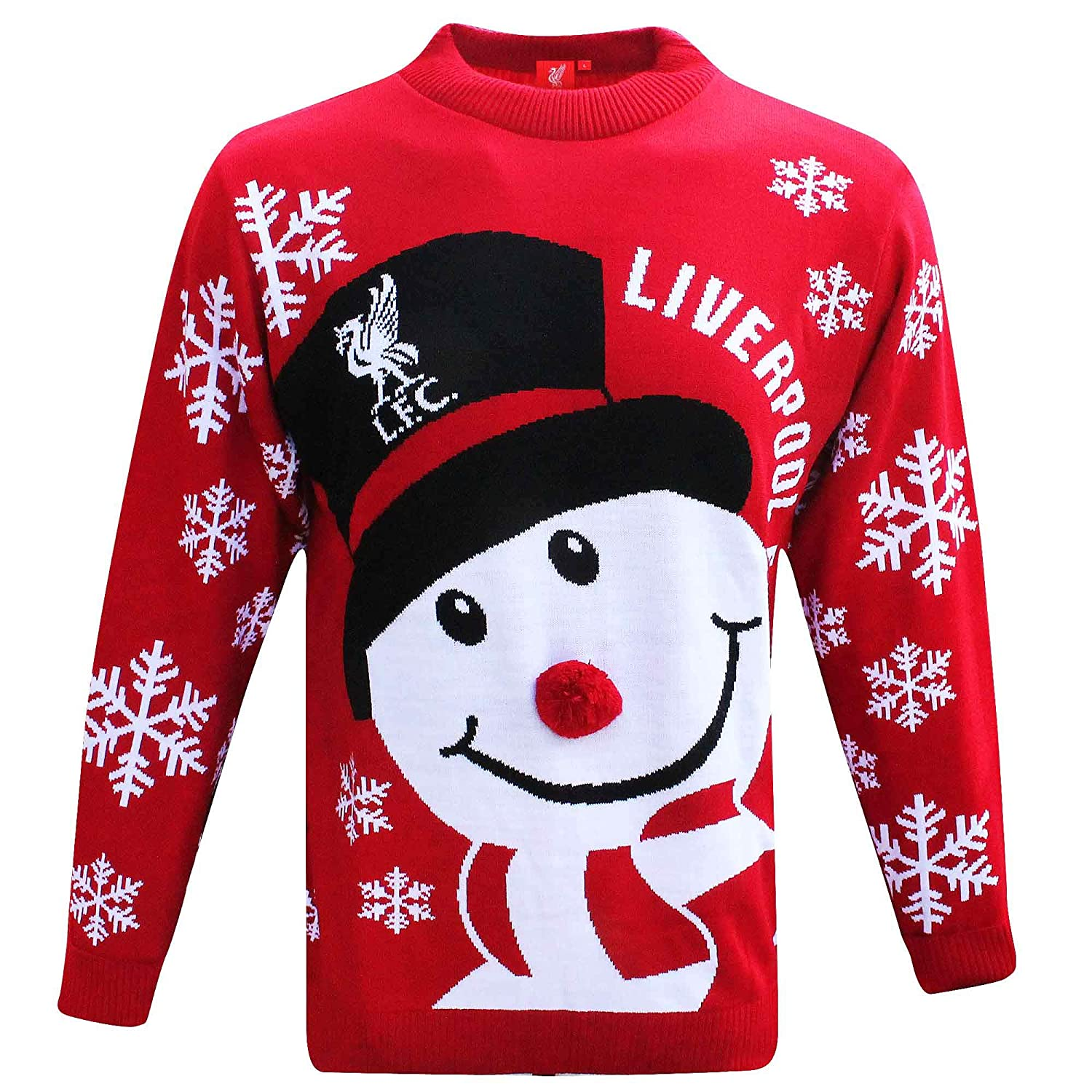 Official Liverpool FC Knitted Soccer Christmas Jumper (Sizes S to 3XL) SWEATER13 LIVERPOOL CAN