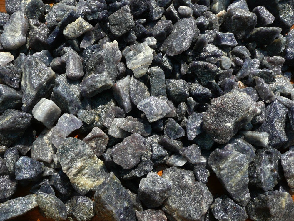 Fantasia Materials: 1 lb Beautiful Iolite Mine Run Rough - Raw Natural Crystals for Cabbing, Cutting, Lapidary, Tumbling, Polishing, Wire Wrapping, Wicca and Reiki Crystal HealingWholesale Lot