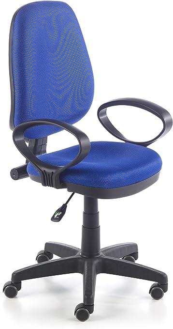 duehome Silla de Oficina Silla Escritorio tapizado 3D Color Azul ...