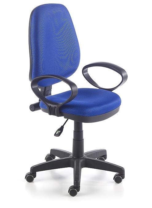 Due-home Silla de oficina silla escritorio tapizado 3D color azul