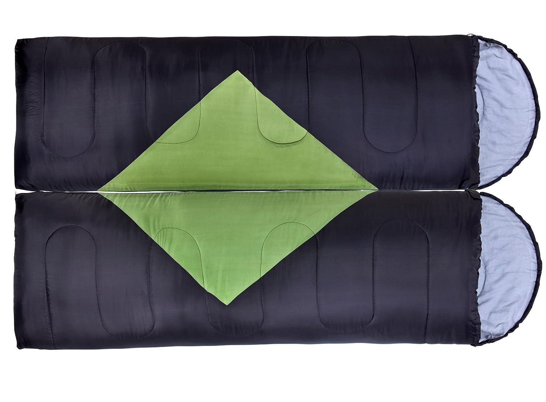 Oztrail - Pack 2 Sacos de Dormir alpinos Bass Twin Pack - Verde y ...