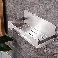 lidun Badrumshylla, rostfritt stål duschkorg duschgel mottagen hylla för badrum och kök (silver, 1 del)