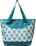 Earthwise INSULATED Grocery Bag Reusable Large Cooler Shopping Tote w ZIPPER Closure & FRONT POCKET