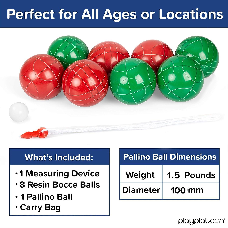 Amazon Com Bocce Ball Set Regulation Size With 8 Premium Resin