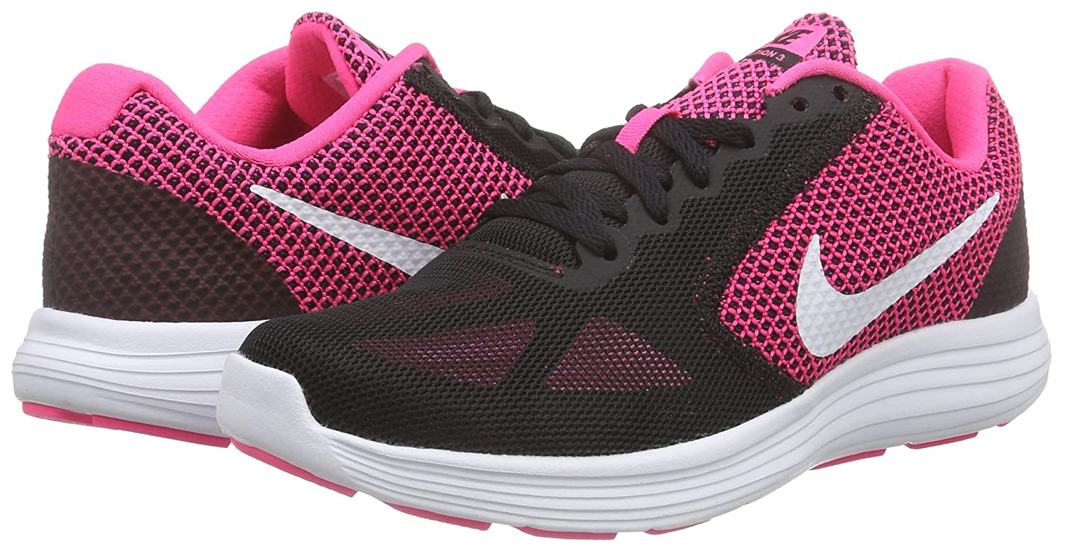 NIKE Women's Revolution 3 Running Shoe B010RSFHJS 8.5 B(M) US|Hyper Pink/White/Black