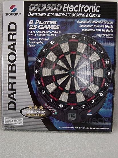 Amazon Com Sportscraft Gx2500 Electronic Dartboard With