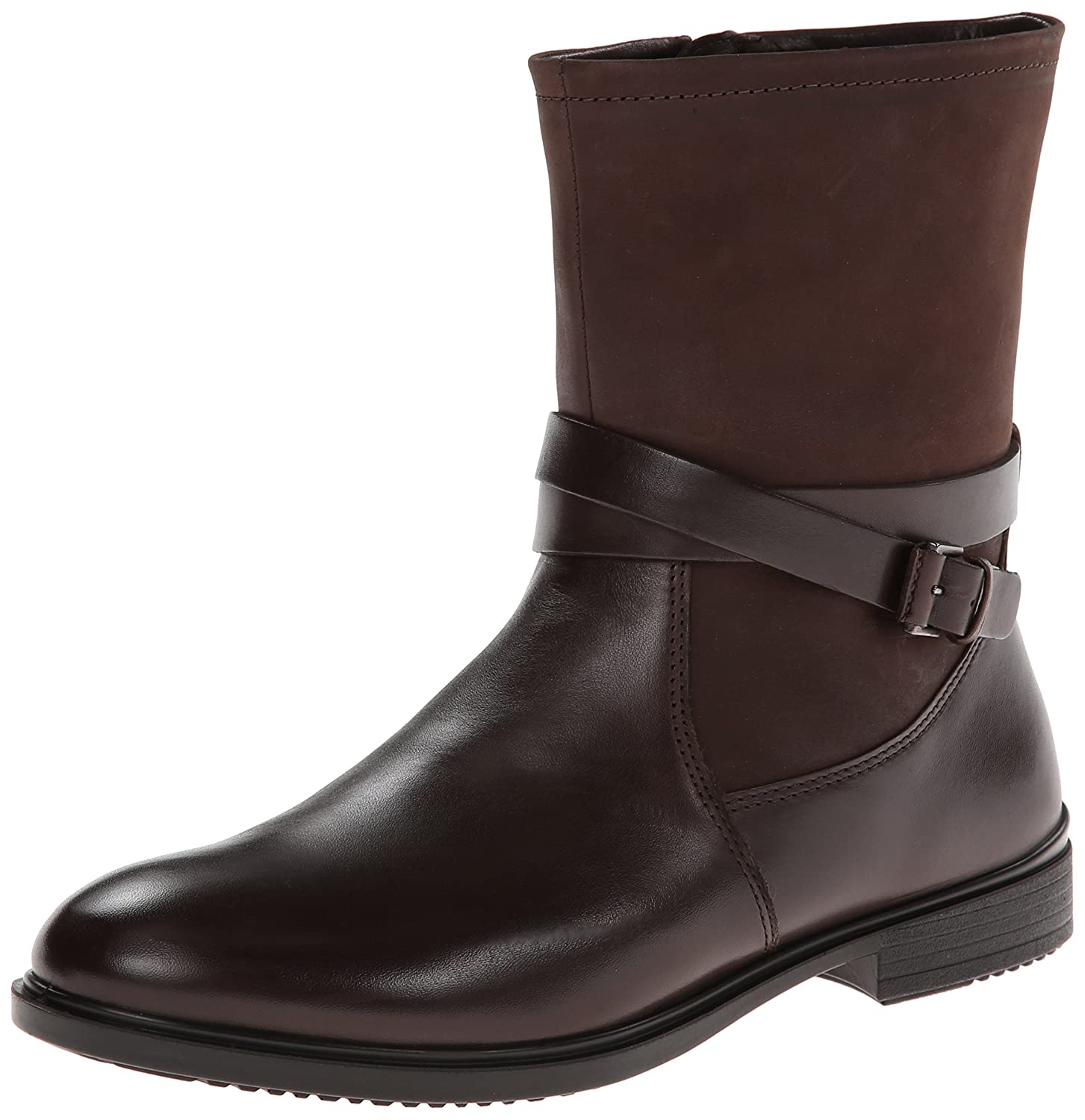 Amazoncom  ECCO Womens Touch 15 Buckle Boot Coffee 40 EU995 M US   Ankle  Bootie