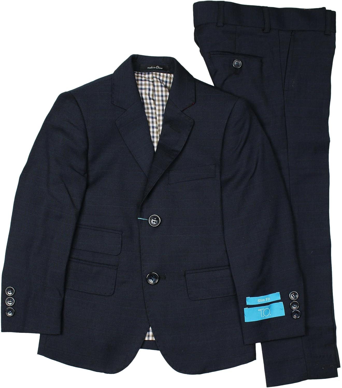 Collection Boys Navy Suit Slim, Regular /& Husky Fit T.O - 5355-32