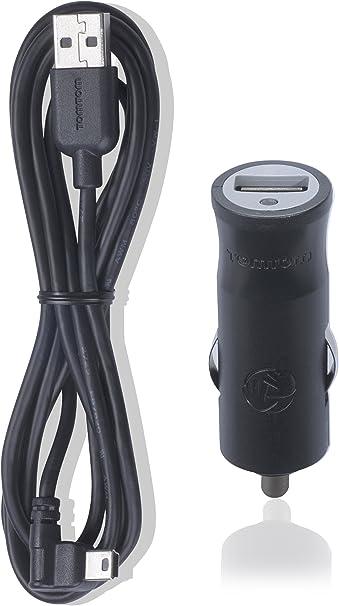 TomTom Caricatore da Auto Compatto USB per i Navigatori TomTom Go, Start, Via, Rider, Go Professional e Dispositivi Caricabili Tramite USB