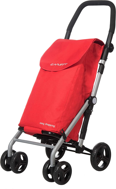 Carlett Carro de la Compra LETT 430 (Color rojo) FRENO, hierro, 110