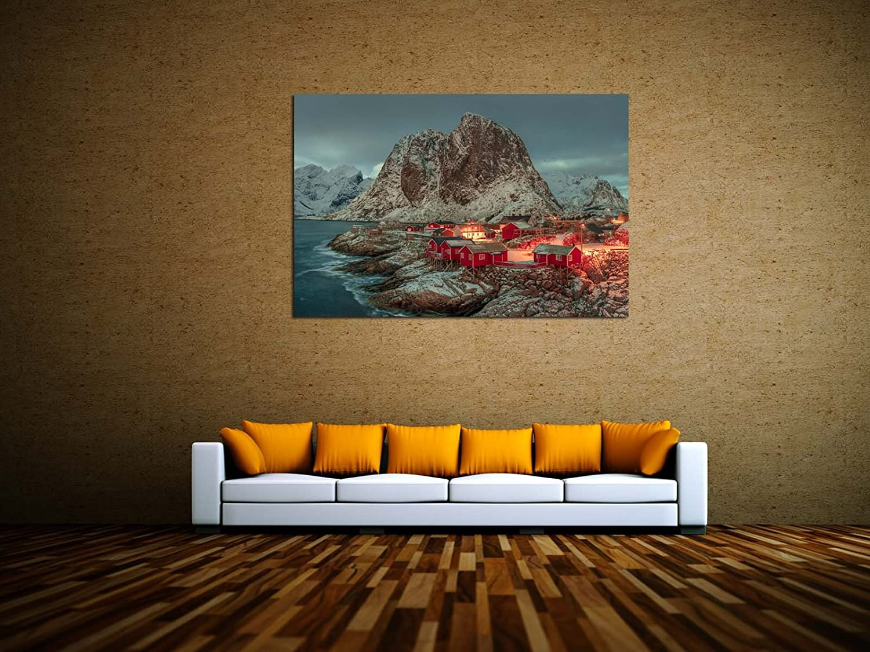 Norwegen Lofoten Leinwandbilder auf Keilrahmen A06029 Wandbild Poster