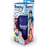 Snacky Wonder 2-in-1 Travel Snack Box and Drink Cup with Keep Fresh Lid (Blue)