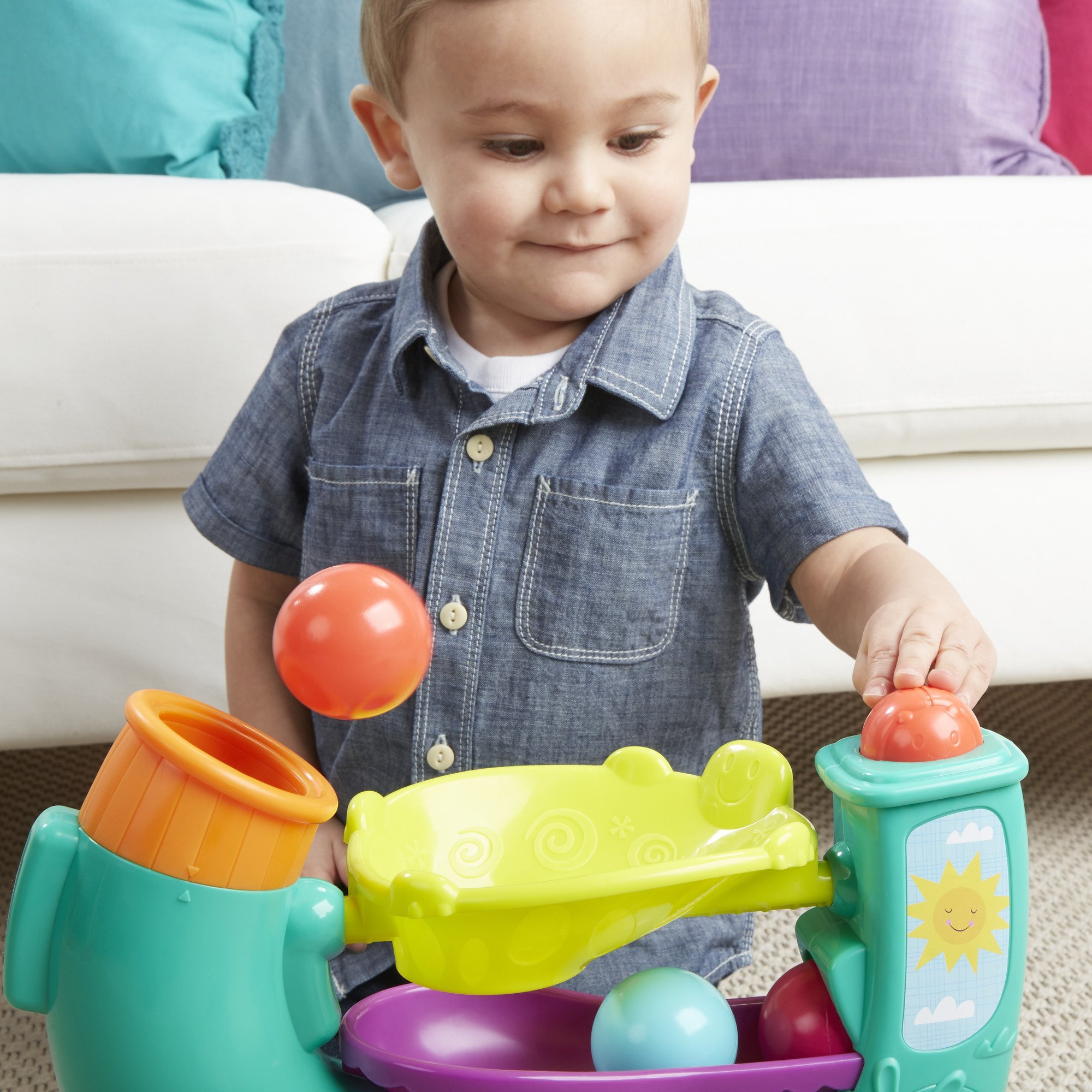 Playskool Chase n Go Ball Popper (Teal), Ages 9 Months and up by Playskool (Image #12)