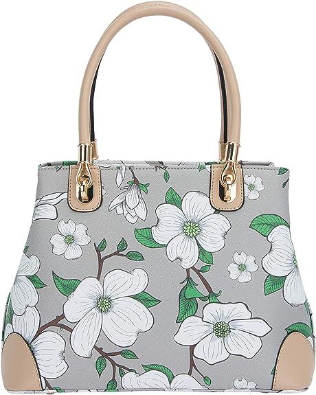 Designs Tote Bag Poppies Flower Field Crossbody for Women Handbag Vintage Leather Purse