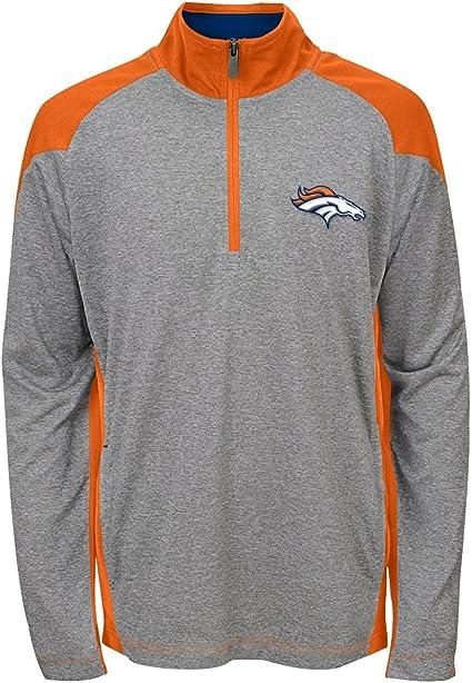 OuterStuff NFL Big Boys Performance Team Color Hoodie Denver Broncos