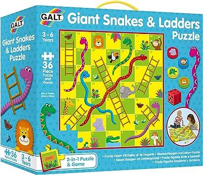 Galt America- Toys Puzle Gigante Serpientes y Escaleras 1005044: Amazon.es: Juguetes y juegos