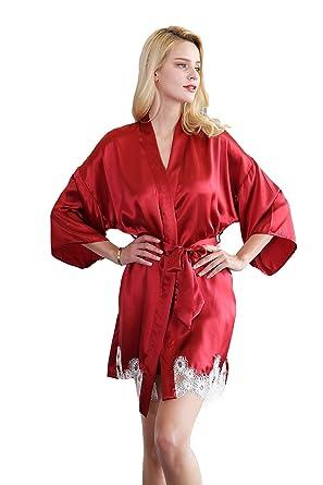 f87bb83fd30f CLC Women s Pure Mulberry Silk Pajama Set Robe Nightgown at Amazon Women s  Clothing store